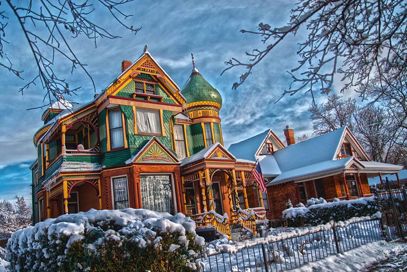 1890 Queen Anne Victorian. Our Historic office and studio. She's part of the team too.