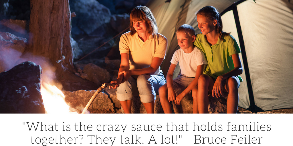 What is the crazy sauce that holds families together? They talk. A lot. Bruce Feiler.