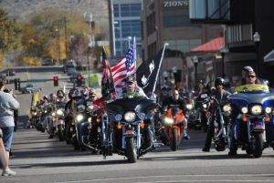 Veteran's Day Parade, Vets on Motorcycles in Ogden, Utah (photo credit Milan Lauritzen). The new Utah Veterans Memorial Hall will honor Vets every day of the year.