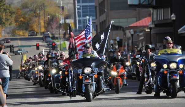 Veteran's Day Parade, Vets on Motorcycles in Ogden, Utah (photo credit Milan Lauritzen)