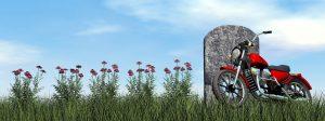headstone-motorcycle-flowers