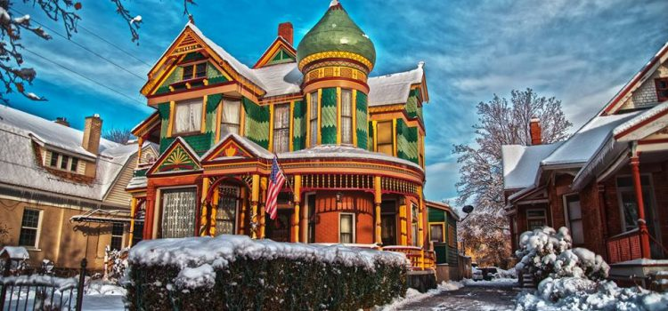 Andrew J. Warner House - a Queen Anne Victorian. Photo credit Milan Lauritzen. All Rights Reserved.