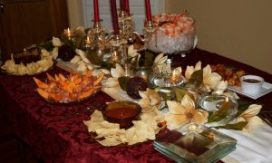 Rhonda's family Thanksgiving traditions buck the norm, involving a small gathering and seafood feast.