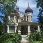 In Salt Lake City's Avenues, the Coffin House was built a while after the Andrew J. Warner house in Ogden. They have an almost identical exterior, although different floor plans inside. It seems likely they may be based on the same original plans, perhaps by Newsom in California.