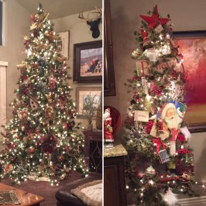 """Melani Anderson's two """"gift"""" trees for her family. What a talent she has!"""
