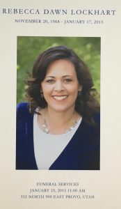 Becky Lockhart funeral program cover