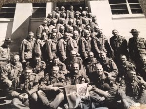 Vietnam Veteran Story of Steve Hoellein, a Purple Heart recipient, pictured here with his company