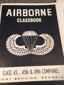 Vietnam Veteran Story of Steve Hoellein, a Purple Heart recipient. Here is photo of his Airborne classbook, class of 43