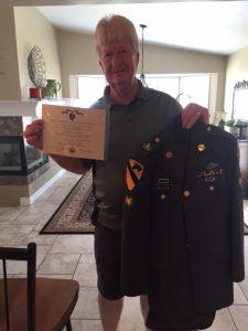 Vietnam Veteran Story of Steve Hoellein, a Purple Heart recipient, pictured here with his uniform.