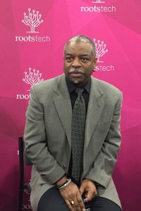LeVar Burton granted a spontaneous interview in the media hub after his powerful keynote address that referenced Mr. Rogers