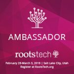 We are RootsTech 2018 official Ambassadors