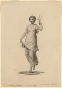 The muse of dance, image credit New York Public Library. Many creative people subscribe to a muse theory of inspiration, while staying committed to putting in their time (10,000 hours) toward technique.