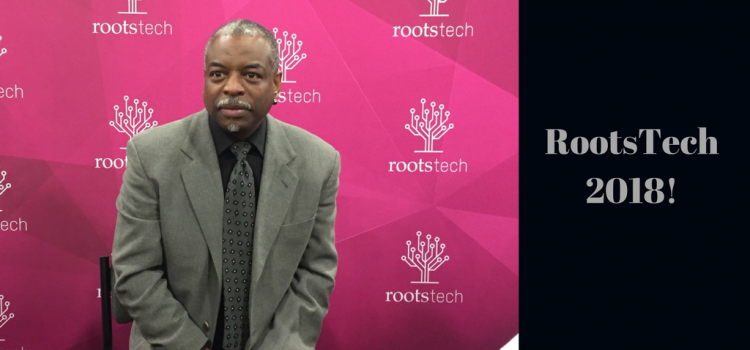 At RootsTech 2017 LeVar Burton, pictured here in the media hub, was one of the highlights for us. We are excited for RootsTech 2018!