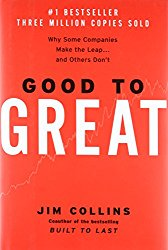 Good to Great cover by Jim Collins. In this book, we learn that people are not your most important asset. The right people are. Business stories are a way we ferret out the right employees, and provide tangible examples of the right employees doing the right thing.