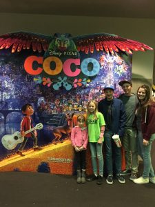 In the movie Coco, the ancestors need to be known. There are no coincidences in this movie. Photo of Rachel J. Trotter's family at the movie.