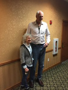 Literary agent Laurie Liss with Mark Eaton, motivational speaker and former NBA Basketball All-star. Enjoy wisdom from Laurie Liss and Richard Paul Evans quotes in this article.