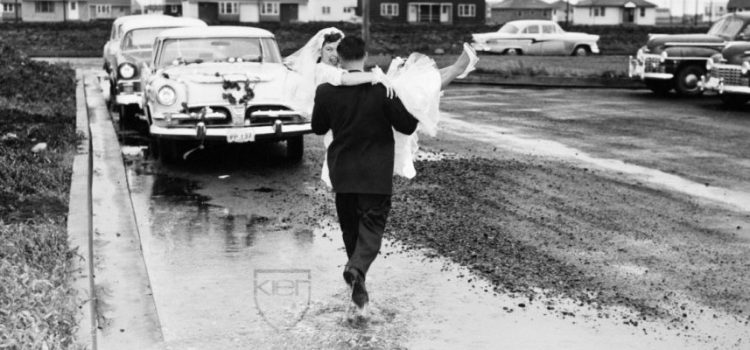 Norma and Jim Kier on their wedding day
