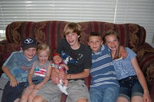 The first photo of all six of my children together just days after Miss Eliza Mae was born. They were smitten then and they are smitten now.