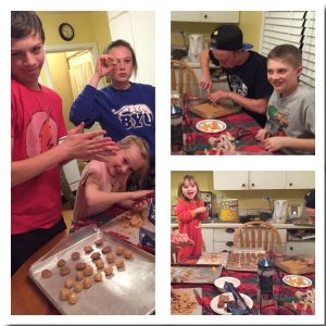 The Trotter kids helping with the candy making last Christmas. It's a family affair.