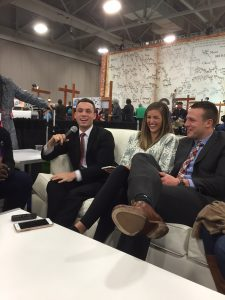 Britain Covey, Emily Hill and Taysom Hill talk family history and a little football at RootsTech in February 2016.