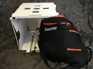 The ShotBox is a light box especially made for digitizing photos and other family history