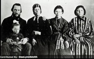 Family of Deborah Lamoreaux Leithead, husband James Leithead, and their children including Nellie (Waddie) on the right. Nellie's story came to me in a most uncanny way. There are no coincidences in this story.