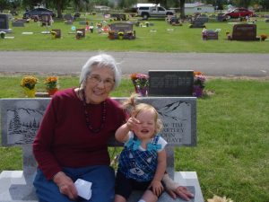 My mom and daughter on Memorial Day