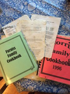 Rachel J. Trotter's family cookbooks - some of the best family interview questions start with food.