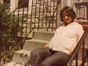 Rene's mom Hada when she was pregnant with him. Death of a mother often brings memories to light. In this case, Rene had never seen this photo until she passed and a family member shared.