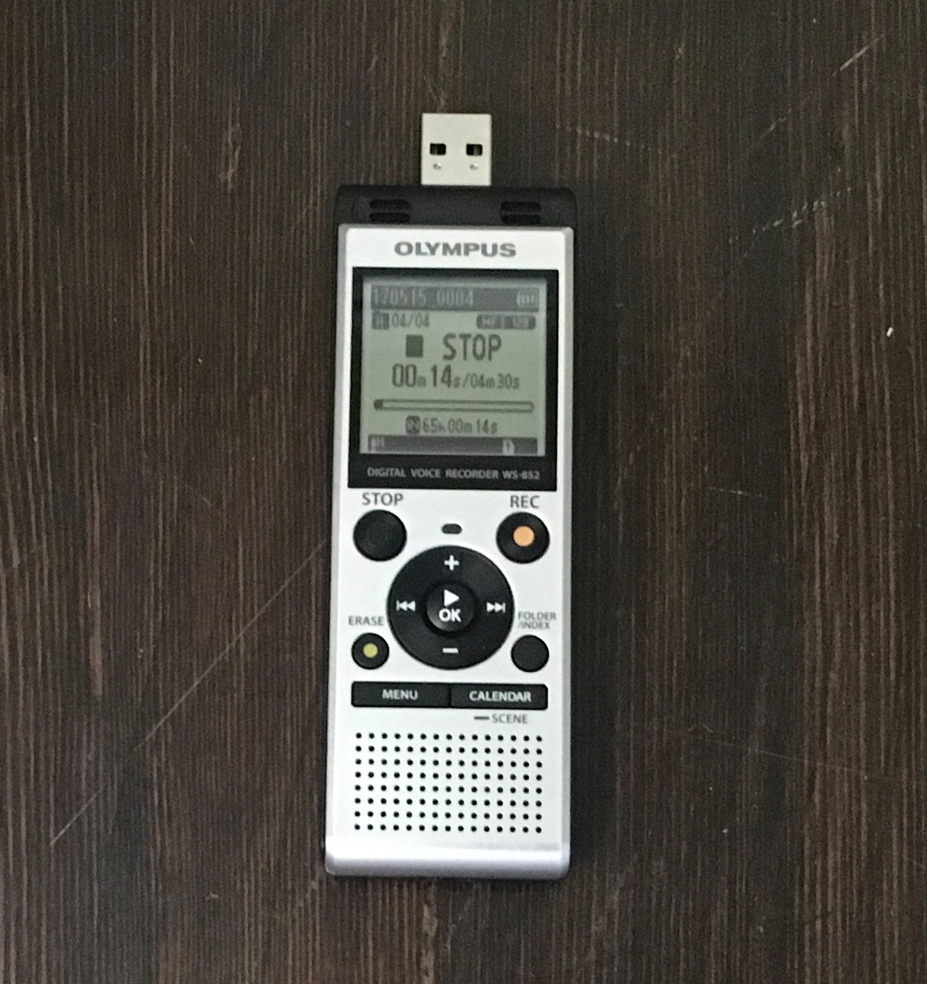 My all-time favorite digital voice recorder - the Olympus WS-852 with built-in USB connection. Click to get it on Amazon.