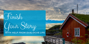 Writing a memoir? Finish your story with help from Evalogue.Life - cabin on the water photo