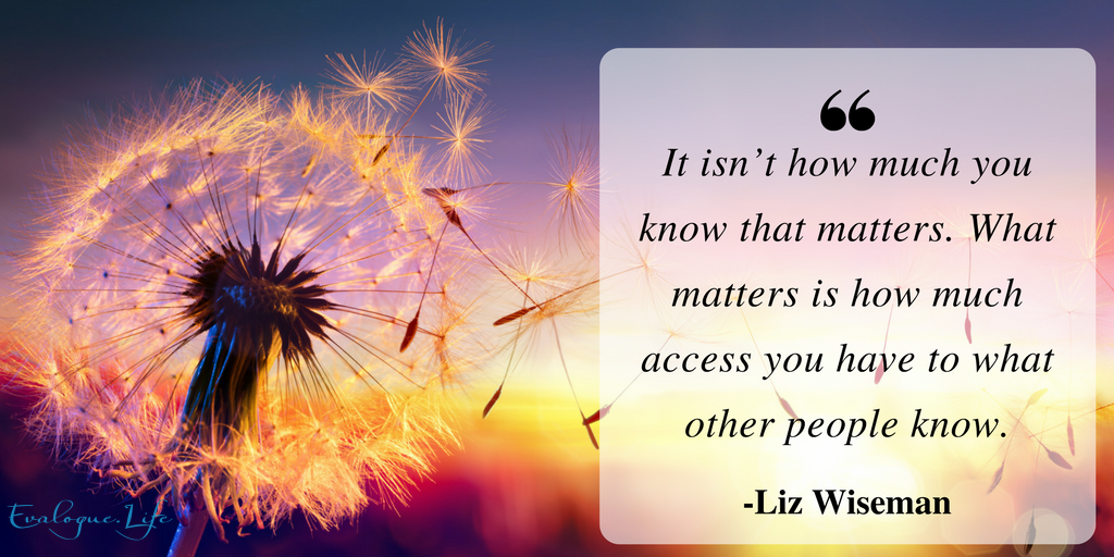"Quote by Liz Wizeman, who wrote the Multipliers book, ""It isn't how much you know that matters. What matters is how much access you have to what other people know."""