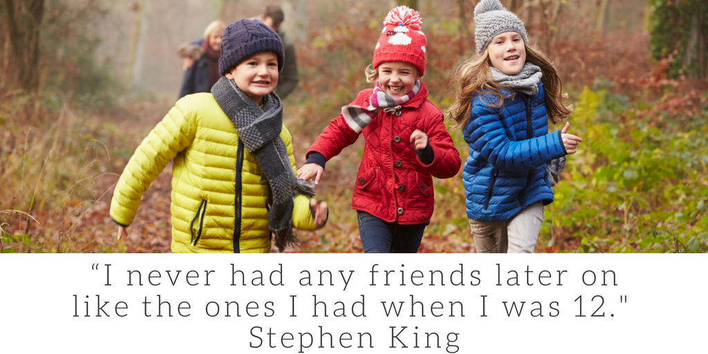 """Who is your best friend? """"I never had any friends later on like the ones I had when I was 12."""" - Stephen King"""