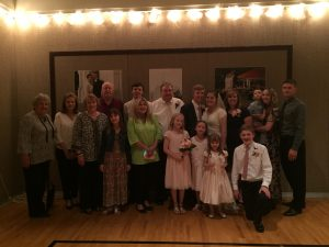 Family reunions and family vacations are a perfect time to make memories and tell stories. Photo of Rachel Trotter's family at her son's wedding reception in Texas.