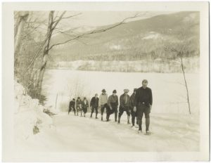 Steven Pressfield advocates writing what you don't know, another example of curiosity sparking a drive to hone a craft or explore a new subject. Curiosity seems to be one of the prime motivators as to why someone would put in 10,000-hours toward a craft. Image of mountaineers going on a hike. Photo credit New York Public Library.
