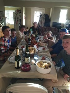 Rachel's Thanksgiving traditions are rich. Here is the Trotter family in 2016.