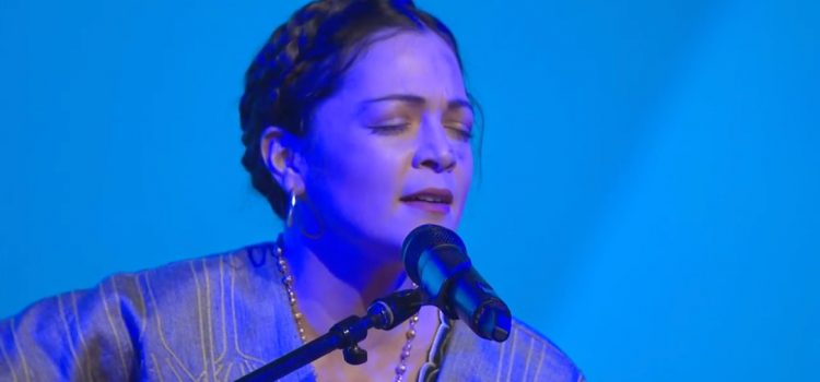 Natalia Lafourcade singing live at RootsTech