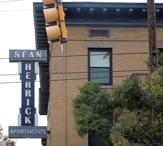 Sean Herrick Apartments sign on 25th Street in Ogden Utah