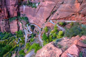 Learn how to storyboard to keep yours from falling off a cliff. Zion Canyon switchback trail.