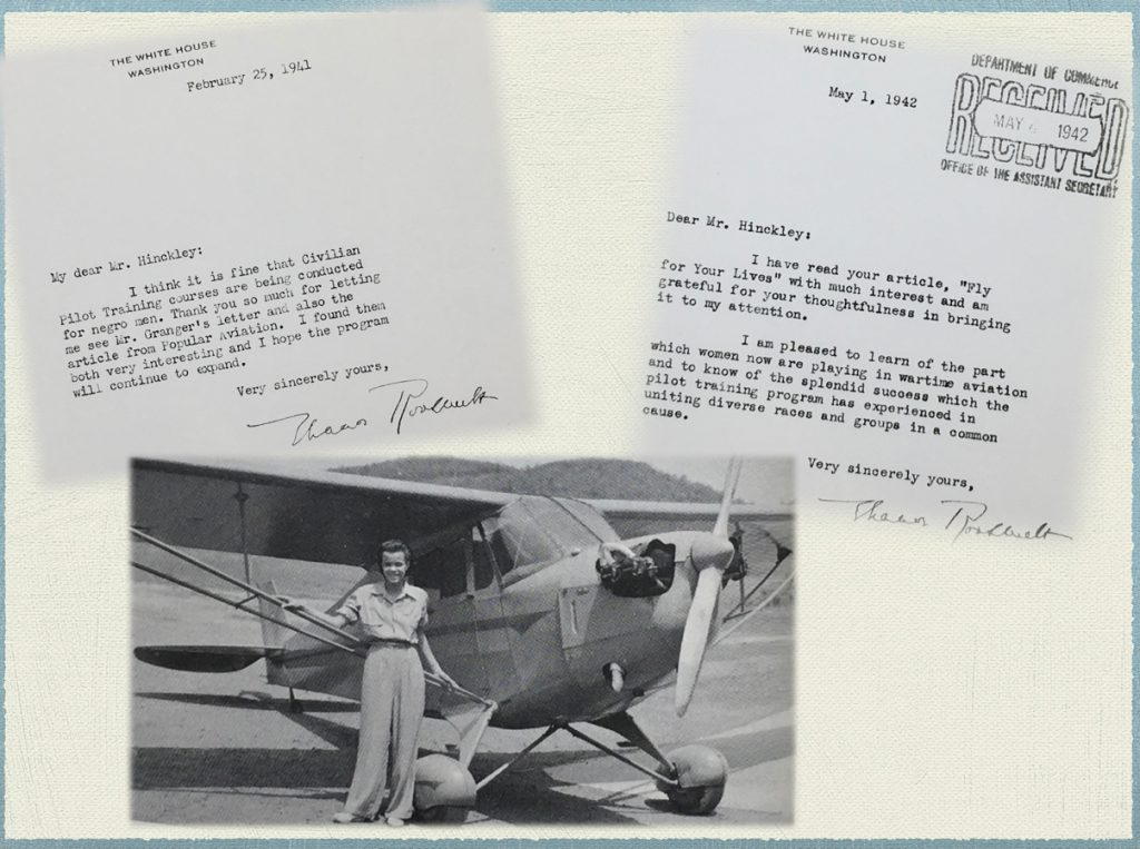 Robert H. Hinckley papers, Ms 102, Special Collections and Archives. University of Utah, J. Willard Marriott. Letters from Eleanor Roosevelt. Photo is from book the Putt Putt Air Force.