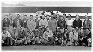 The Civilian Pilot Training Program at the Ogden Airport. Photo obtained from a Powerpoint provided by the Ogden Hinckley Airport on history of the airport and civics