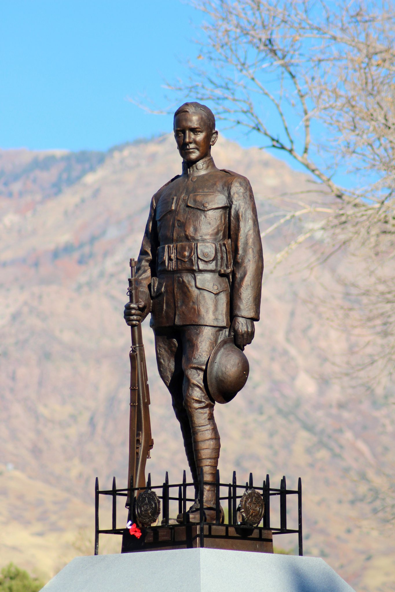 Weber County Heritage Foundation helped restore the doughboy.