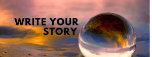 Write your story text and image of glass ball reflecting light and water